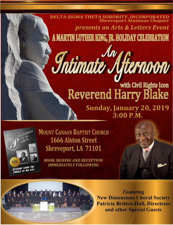 An Intimate Afternoon with Rev. Dr. Harry Blake